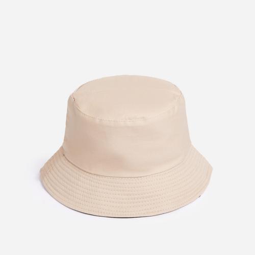 Reversible Bucket Hat In Nude Nylon