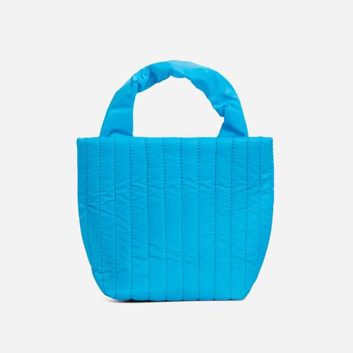 April Quilted Mini Grab Bag In Blue Nylon