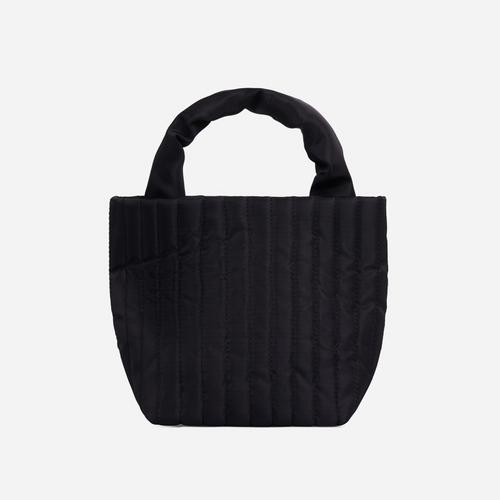 April Quilted Mini Grab Bag In Black Nylon