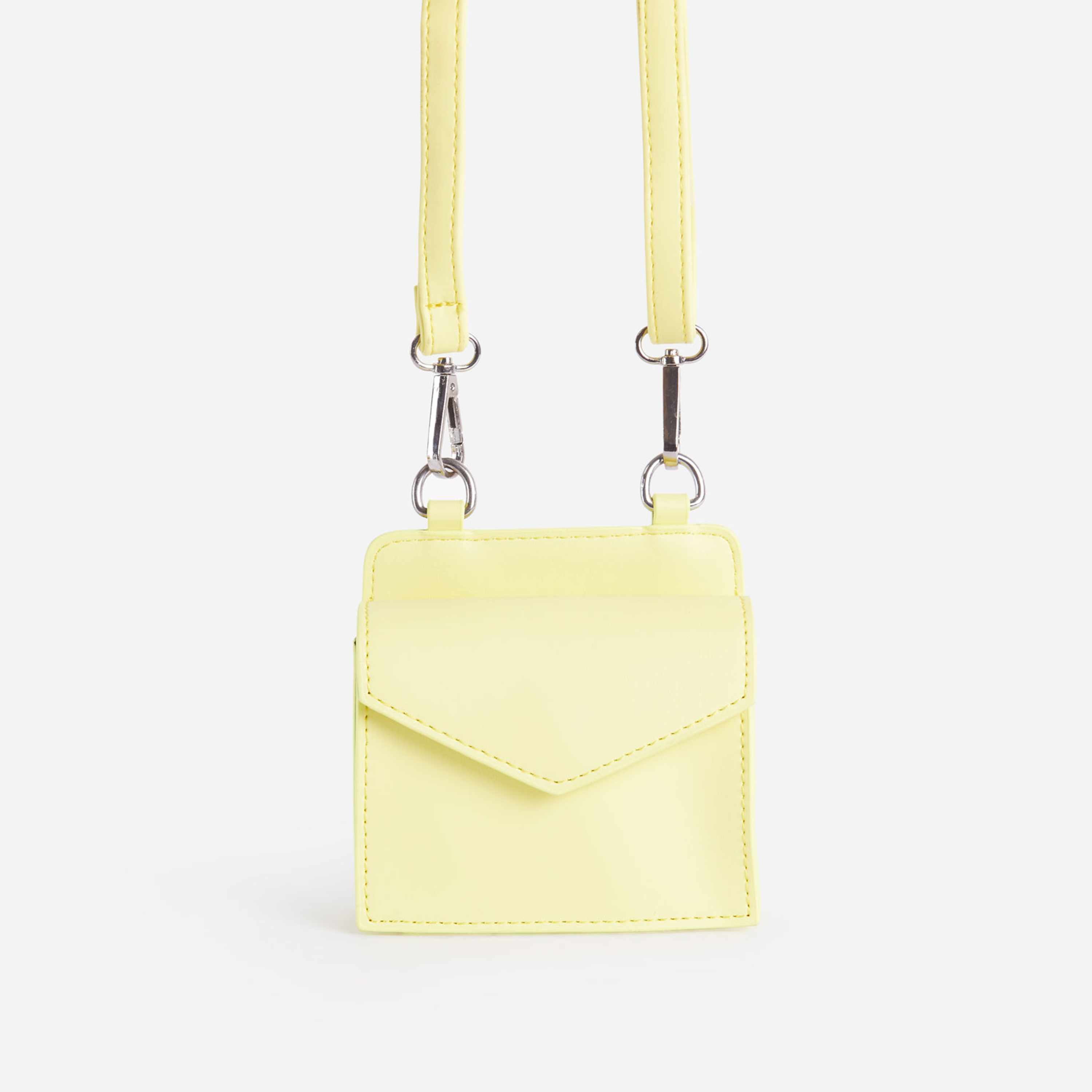 Remi Mini Envelope Bag In Yellow Faux Leather