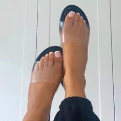 Kerrie Perspex Sandal In Black Faux Leather