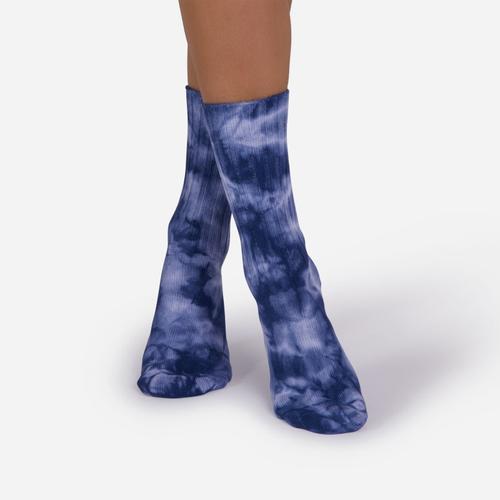 Tie Dye Sport Sock In Dark Blue