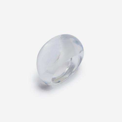 Dome Resin Ring In Clear