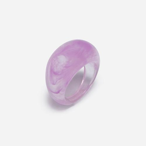 Dome Resin Ring In Purple