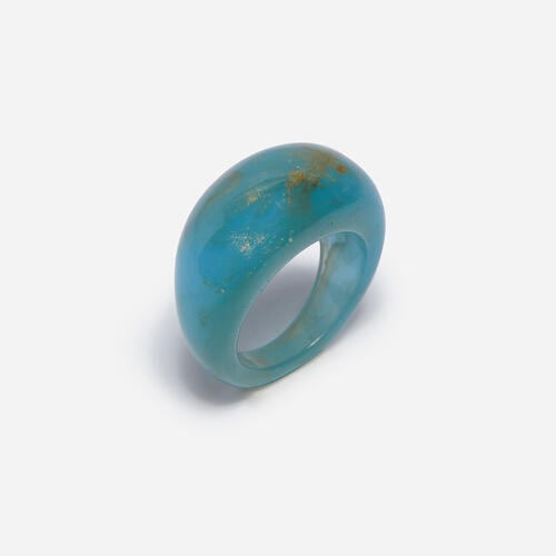Dome Resin Ring In Blue