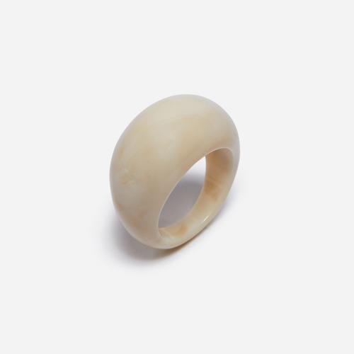 Dome Resin Ring In Cream