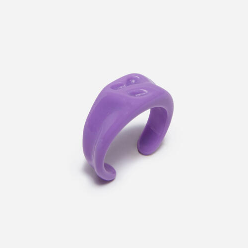 Shaped Plastic Ring In Purple