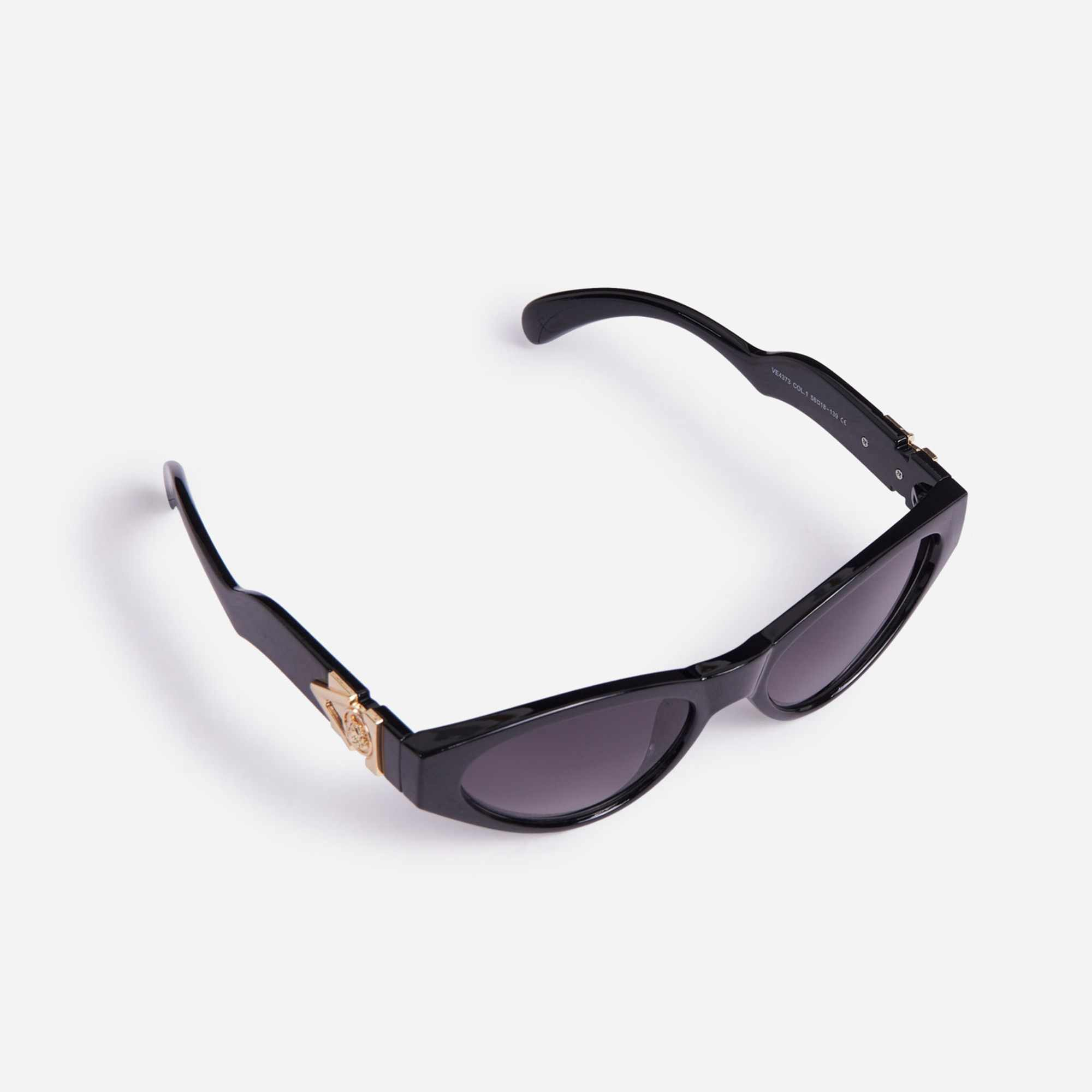 Wave Detail Sunglasses In Black