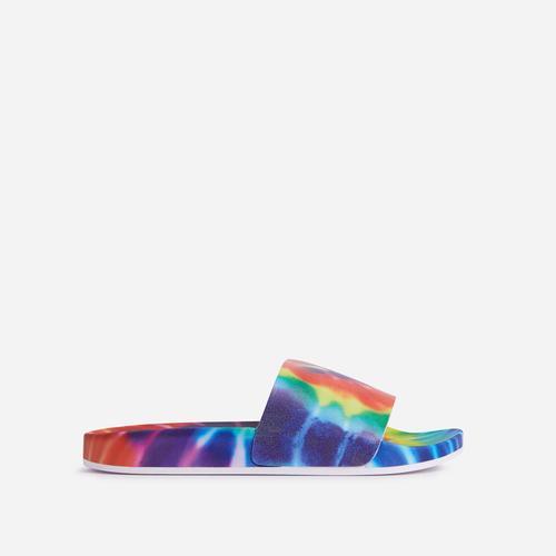 Messenger Flat Slider Sandal In Multi Colour