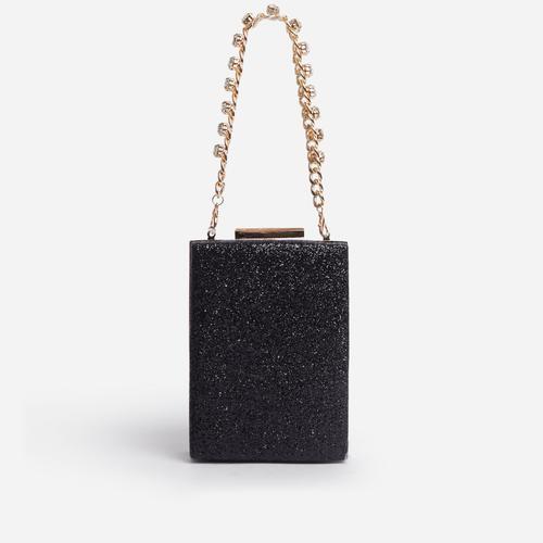 Firework Gem Handle Grab Bag In Black Glitter