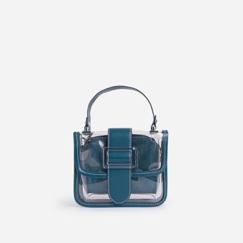 Tyler Clear Cross Body Mini Bag In Blue