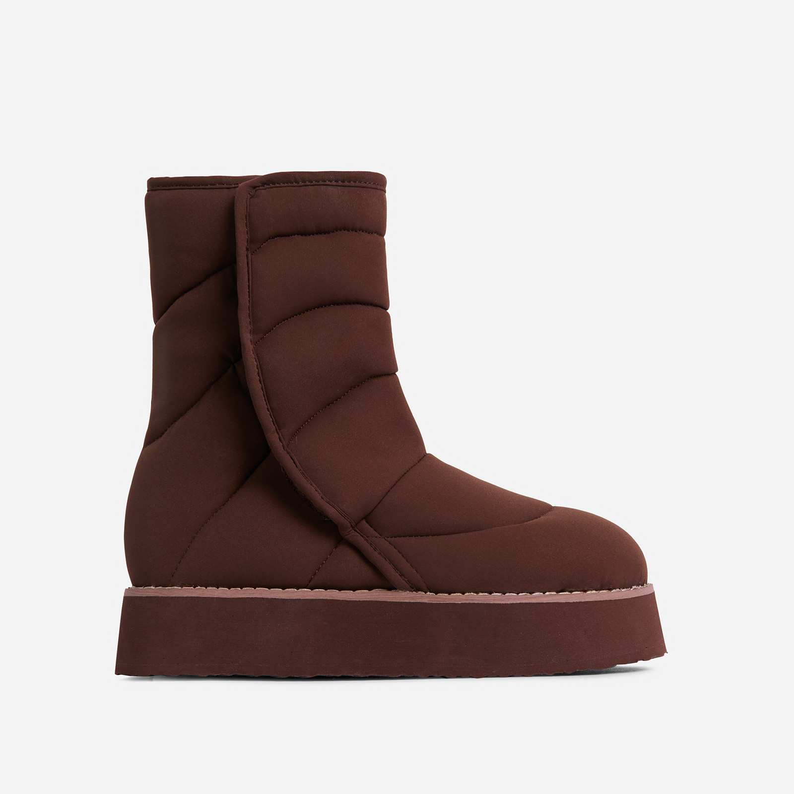 Thickness Quilted Ankle Boot In Brown