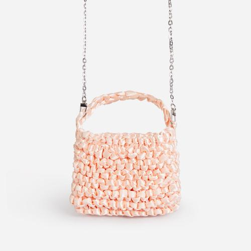 Mardi-Gras Ruffle Cross Body Bag In Nude