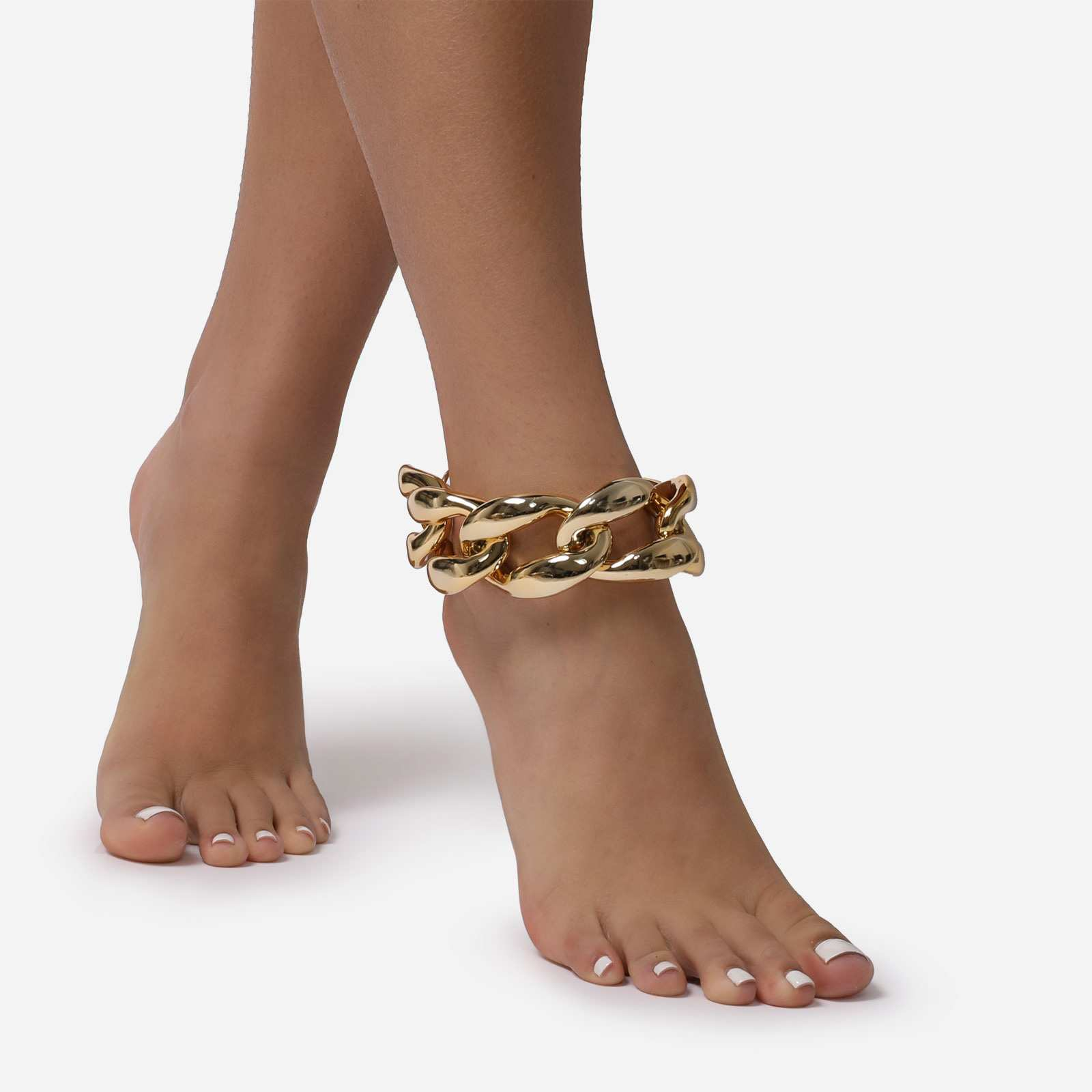 Oversized Chunky Anklet In Gold