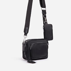 Keyla Mini Purse Detail Cross Body Bag In Black Nylon