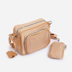 Keyla Mini Purse Detail Cross Body Bag In Khaki Nylon