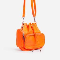 Dixon Purse Detail Cross Body Bucket Bag In Orange