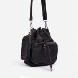 Dixon Purse Detail Cross Body Bucket Bag In Black