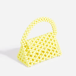 Milly Beaded Grab Bag In Yellow