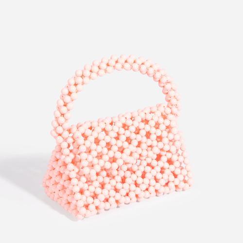Milly Beaded Grab Bag In Orange