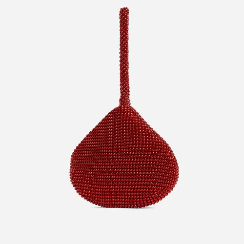 Malaga Pyramid Grab Bag In Red Beads