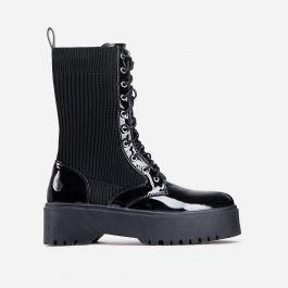 Soulmate Ribbed Lace Up Ankle Biker