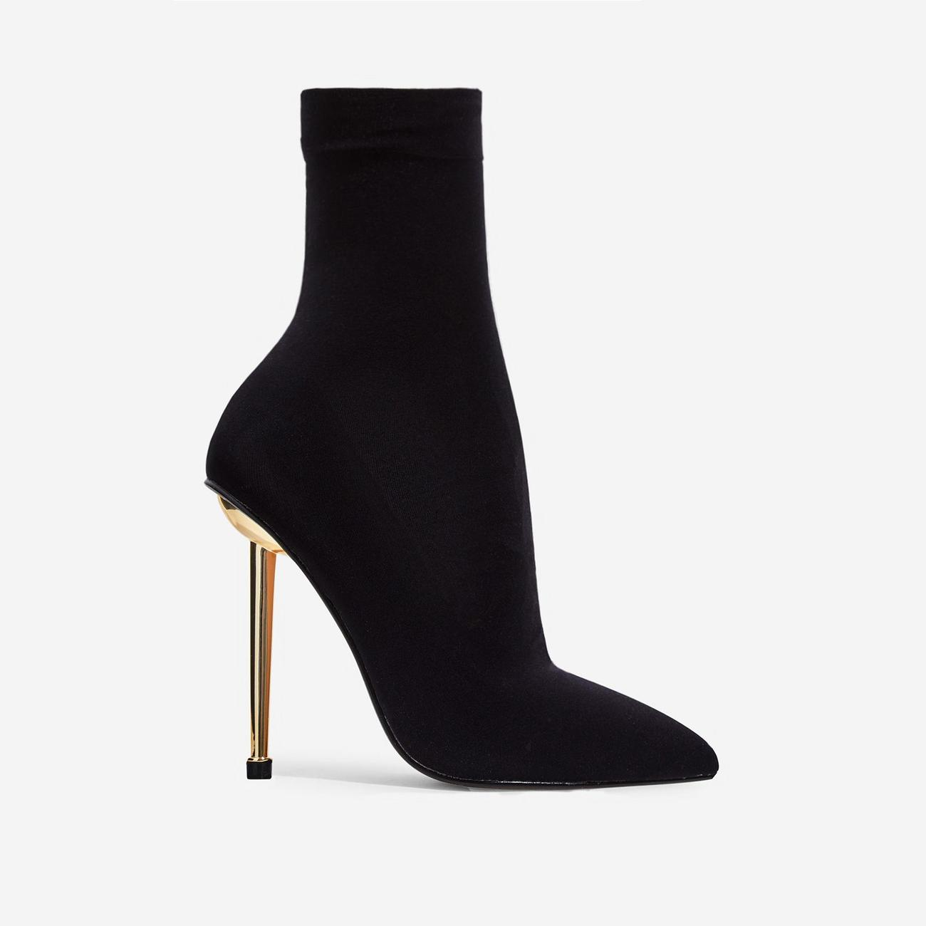 Jade Ankle Sock Boot In Black Knit Image 2