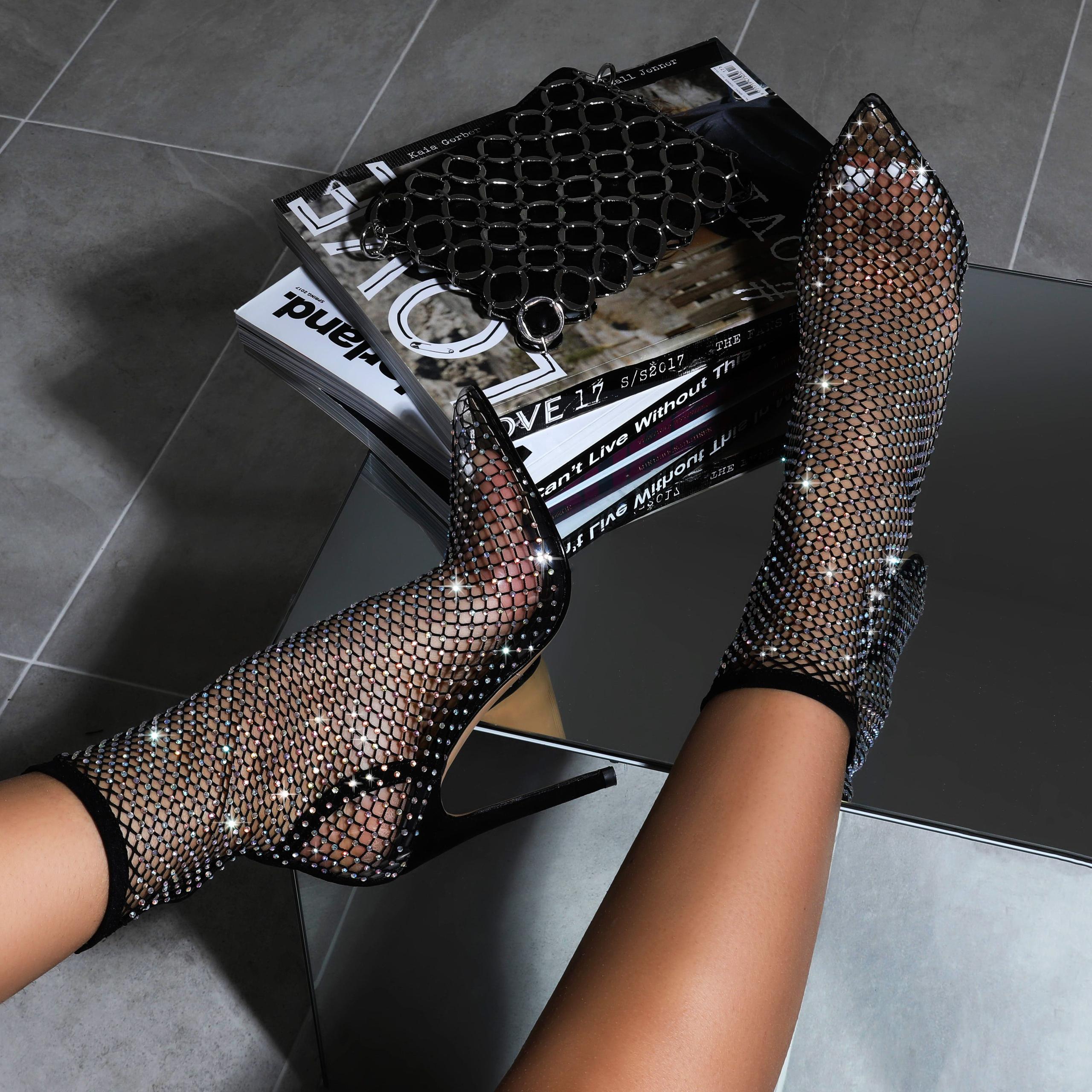 Vakili Diamante Detail Heel Ankle Sock
