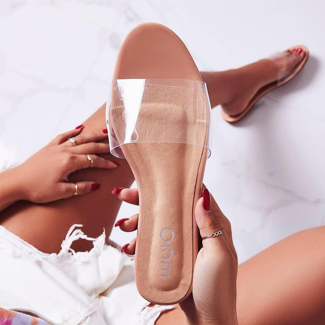 Kerrie Clear Perspex Sandal In Nude Patent Image 2