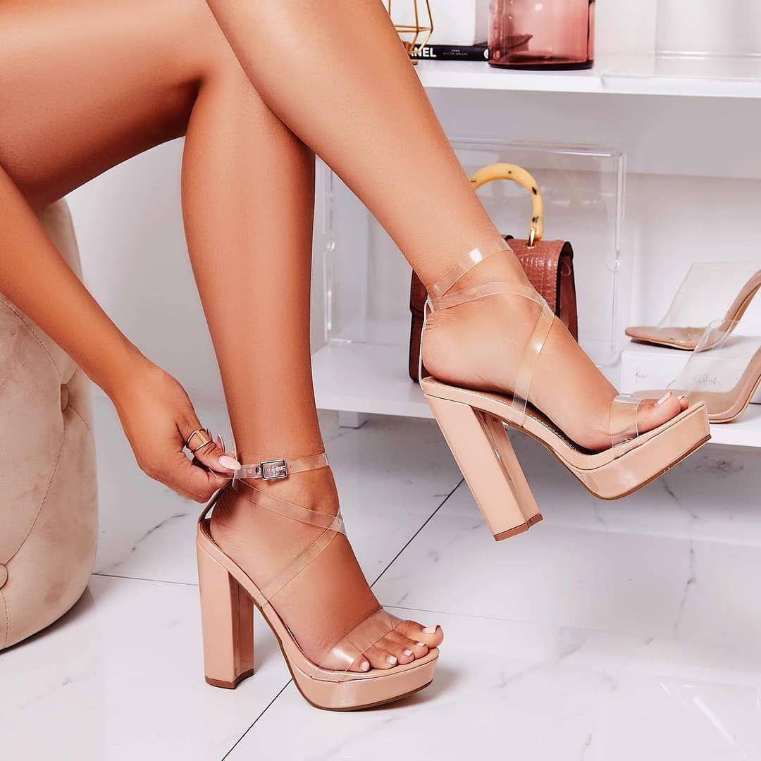 Vision Lace Up Fluffy Heel In Nude Faux Suede Shoes Post