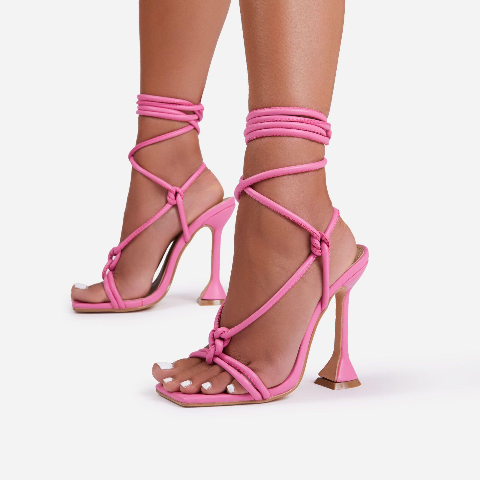 Fiat Lace Up Square Toe Sculptured Heel