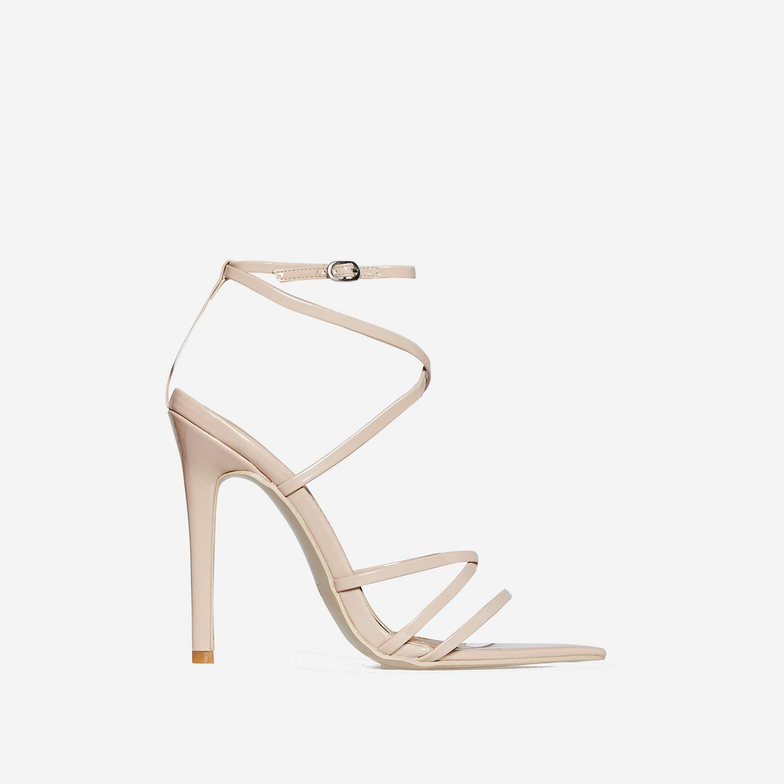 Kaia Pointed Barely There Heel In Nude