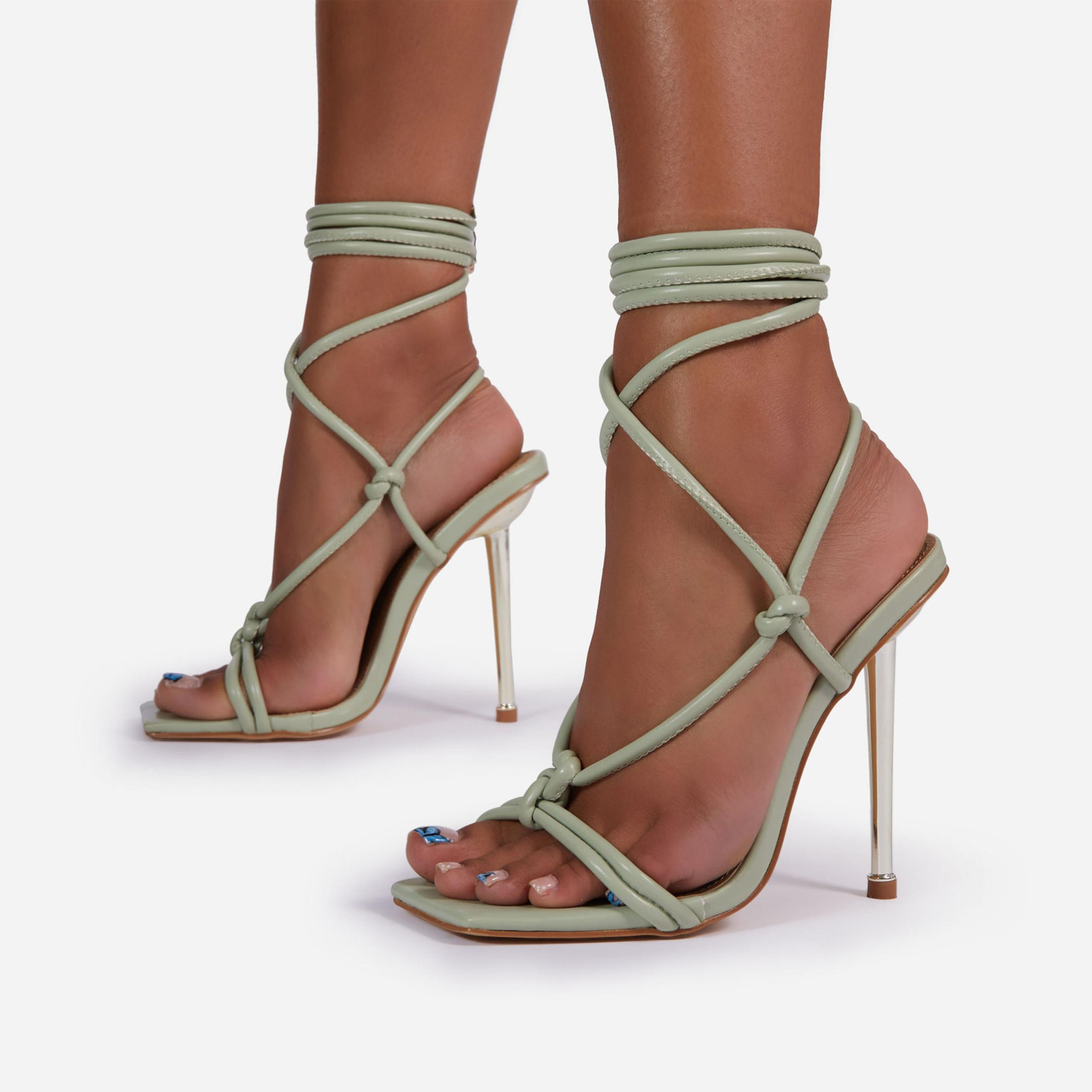 Orbit Lace Up Knotted Detail Square Toe