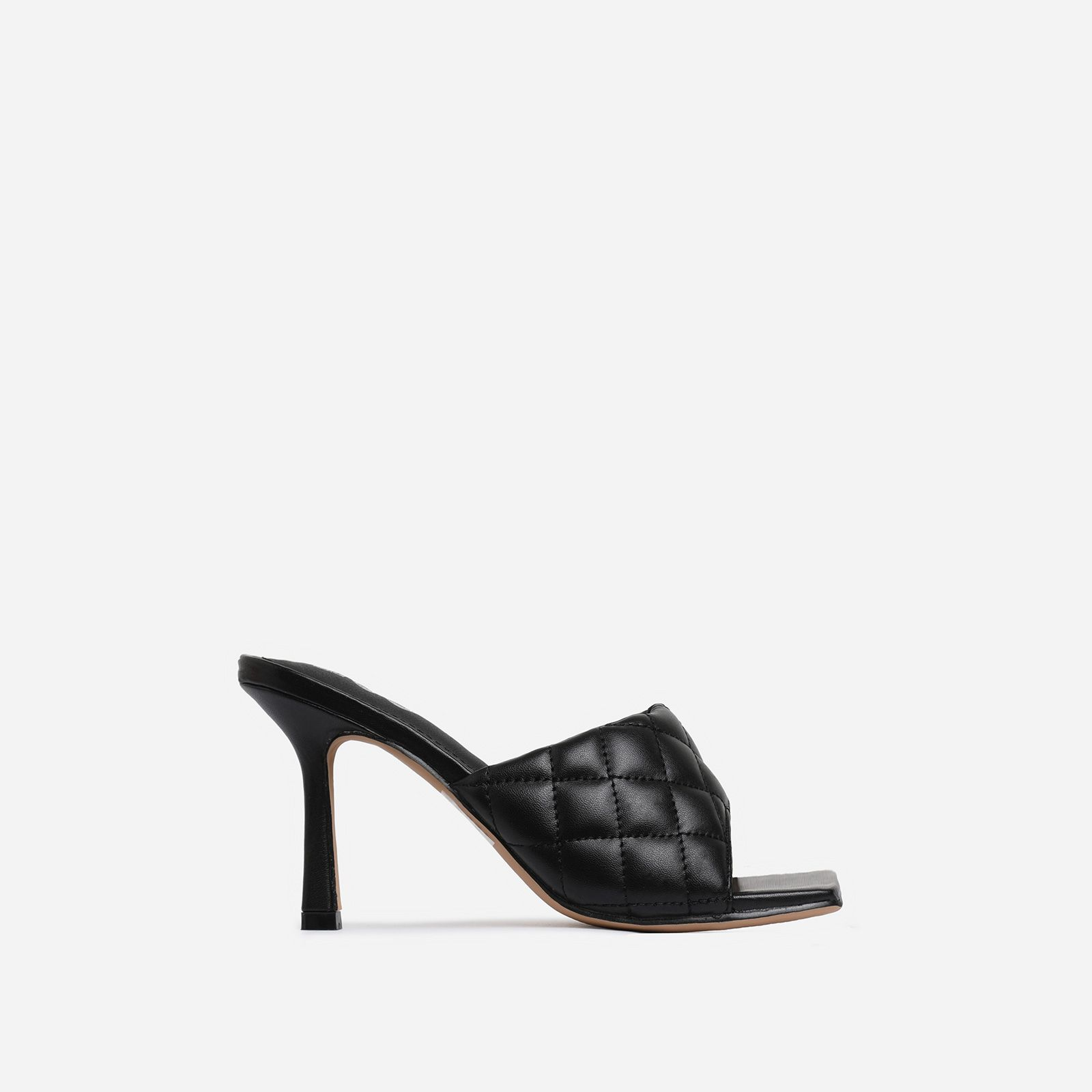 Tropez Square Toe Quilted Heel Mule In
