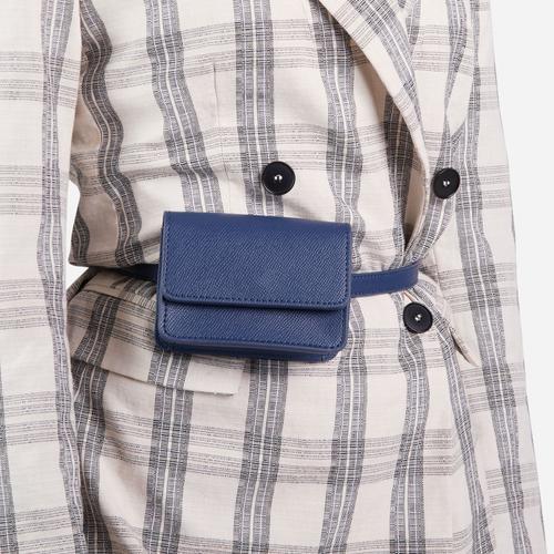 Purse Detail Belt In Black Faux Leather