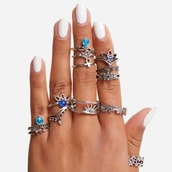 Multi Pack 13 Piece Stacking Rings In Silver