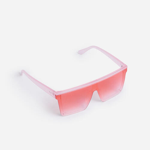 Flat Brow Sunglasses In Red
