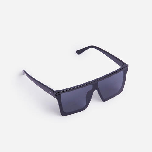 Flat Brow Sunglasses In Black