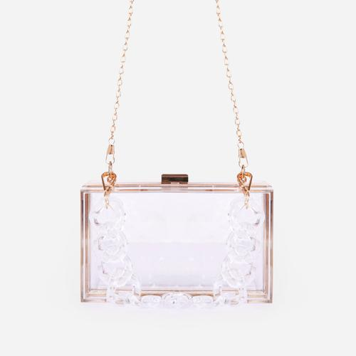 Maldive Box Vanity Bag In Clear Perspex