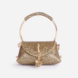 Dance Mini Diamante Grab Bag In Gold