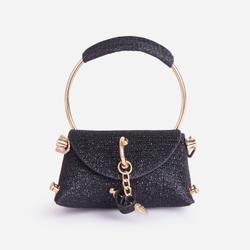 Dance Mini Diamante Grab Bag In Black