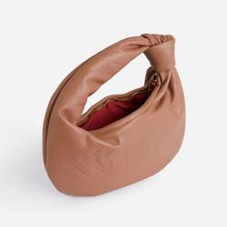 Monty Slouchy Shoulder Bag In Brown Faux Leather