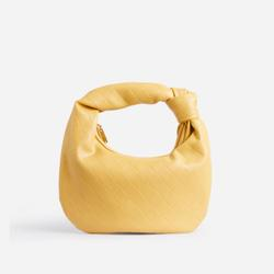 Monty Slouchy Shoulder Bag In Yellow Faux Leather