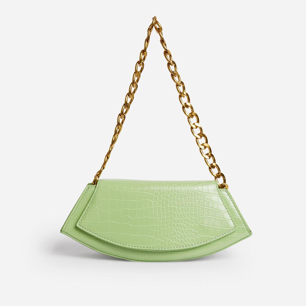 Green Printed Chain Strap Bodysuit - Kirstys Kloset