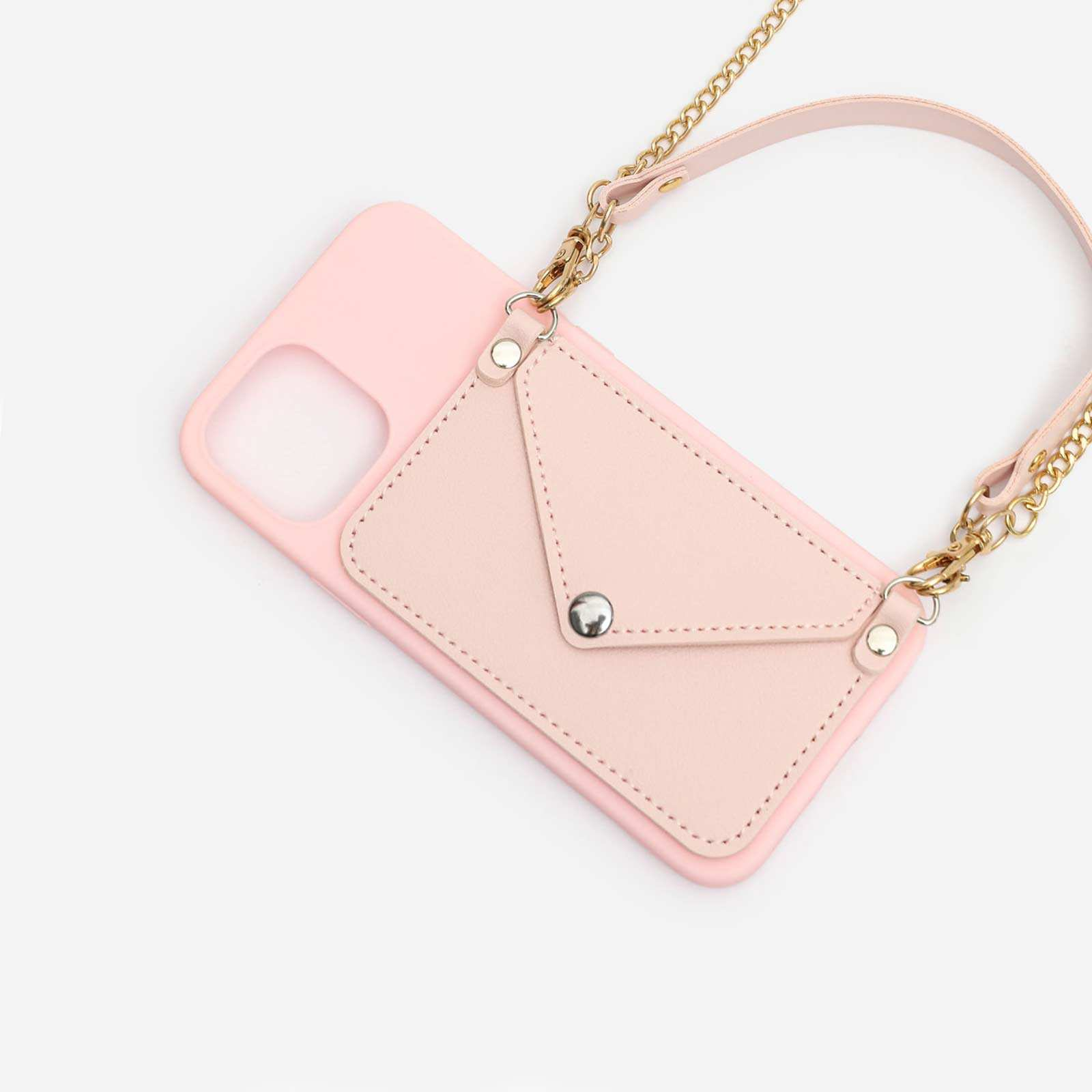 Pocket Detail With Handle Phonecase In Pink. iPhone 12 Pro Max