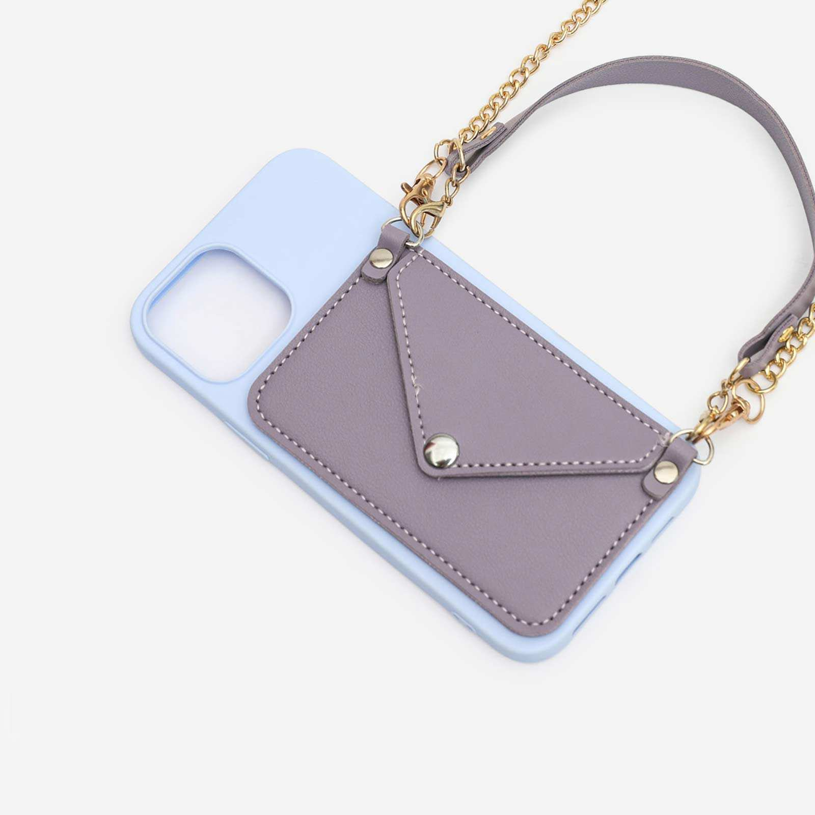 Pocket Detail With Handle Phonecase In Lilac. iPhone 12 Pro Max