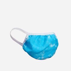 Fashion Face Mask In Blue Tie Dye Print