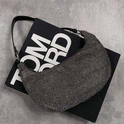 Shoulder Bag In Black Diamante