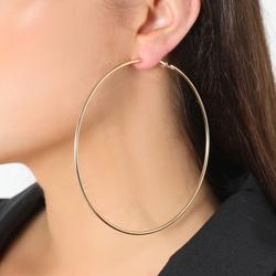 Thin Hoop Earrings In Gold