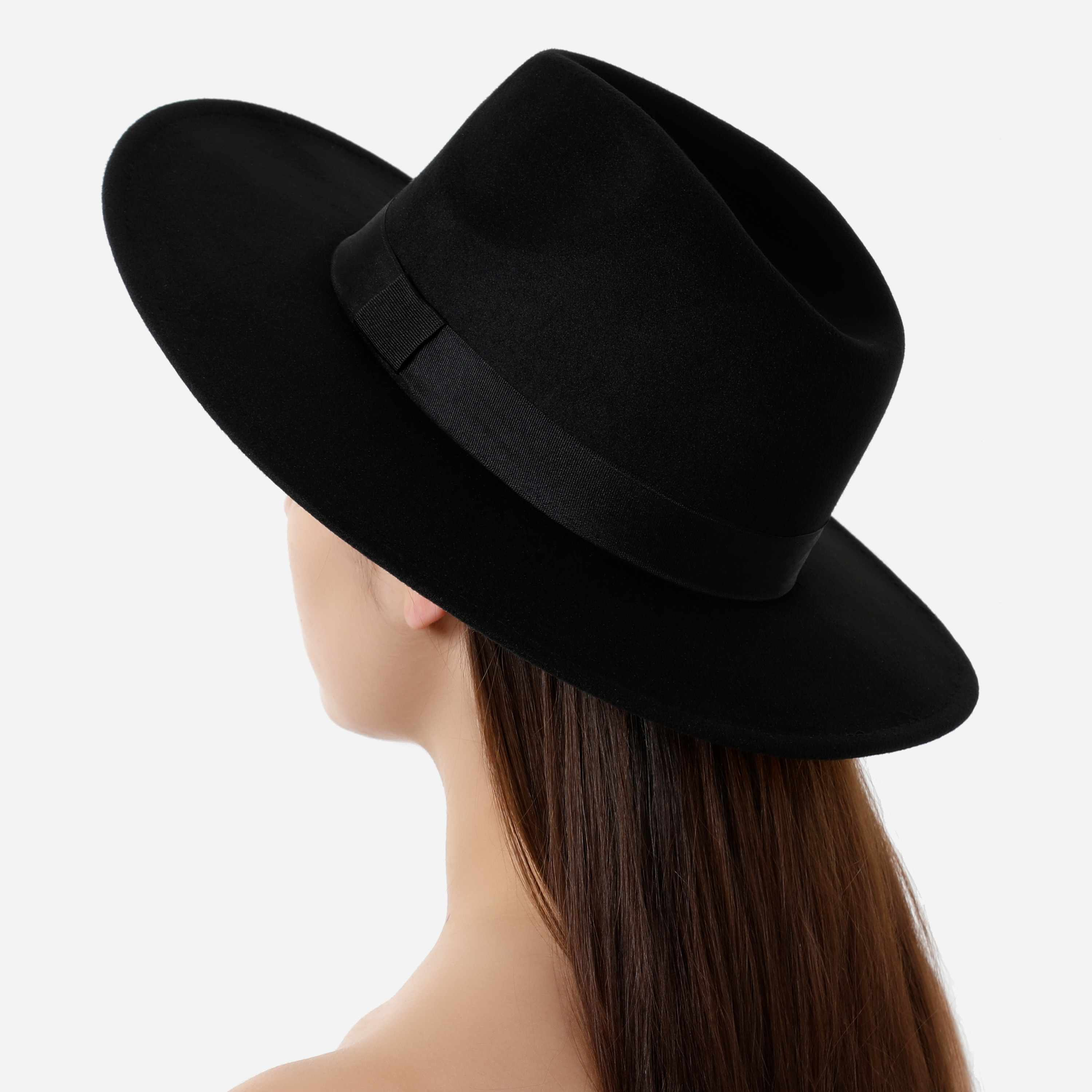 Fedora Hat In Black Felt